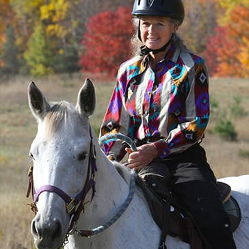 Fall horseback riding